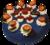 Slagroomtaart met marsepein