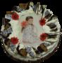 Slagroomtaart bloem met uw eigen foto